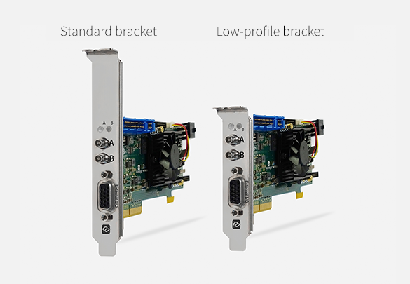 Low-profile PCIe card