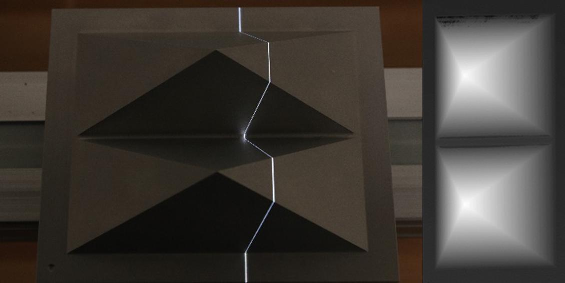 3D-Laserlinien-Extraktion mit einer Tiefenkarte