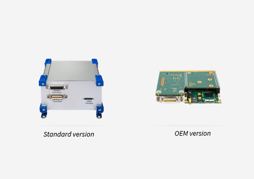 Ausführungen als Standard (mit Gehäuse) und OEM (ohne Gehäuse) verfügbar