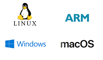 Windows, Linux and macOS drivers available